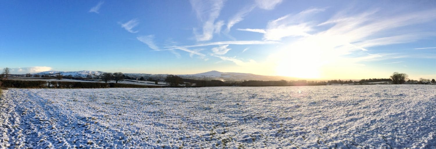 Clee Hills in the snow