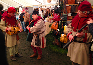 Musicians at the Ludlow Medieval Festival